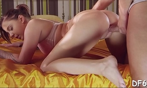 Young pair finds the best position be favourable for inserting large cock