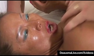 Sweltering Cougar Deauxma &_ GF Minka Banged &_ Jizzed Exceeding Wide of Hubby!